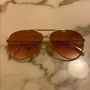 Celine Gold Aviator Sunglasses
